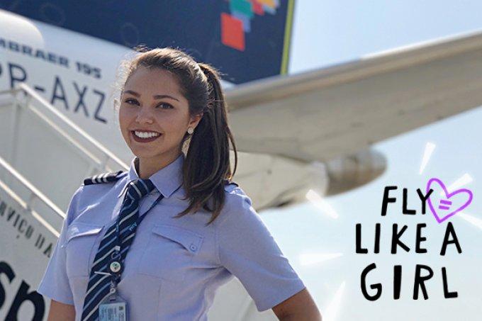 Juliana Rogatto faz parte do 1.4% de mulheres que pilotam aviões