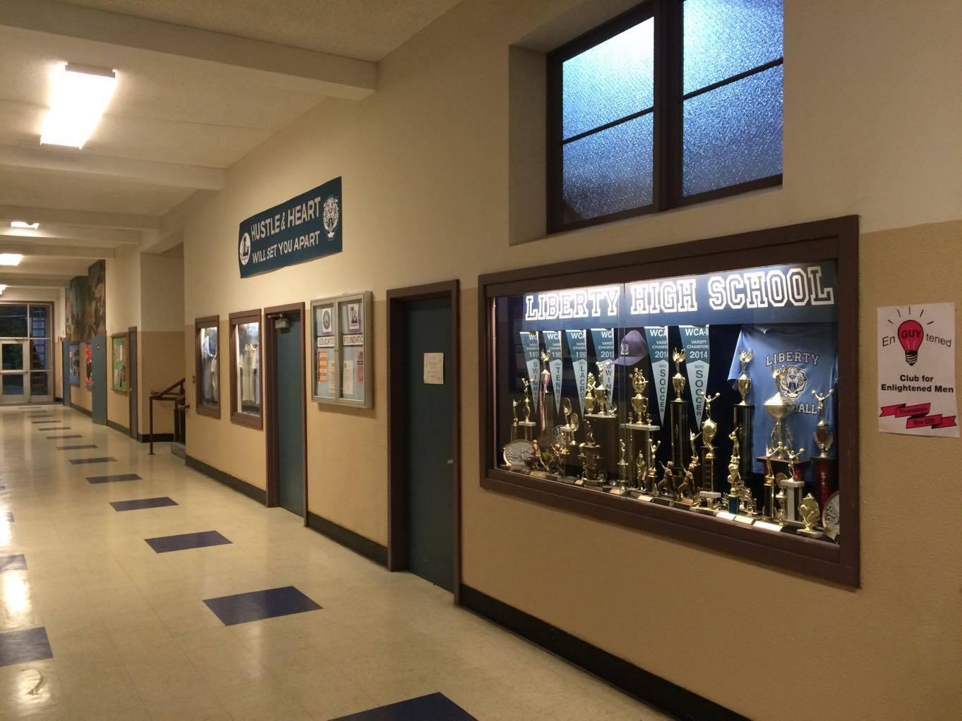 Corredor da Liberty Hall School
