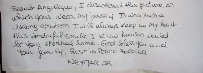carta-neymar-fã-assassinada