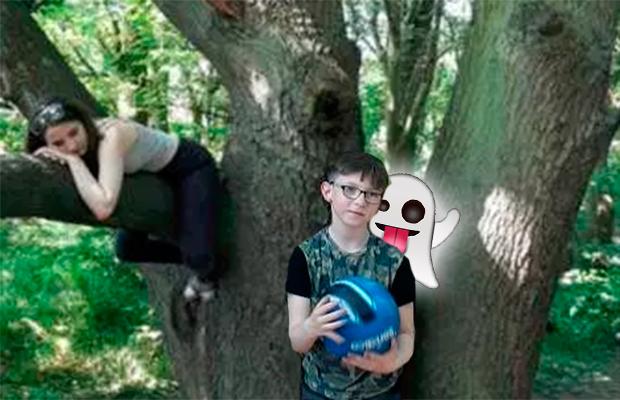 Fantasma aparece em foto de família: 'a mão está no ombro do meu filho'