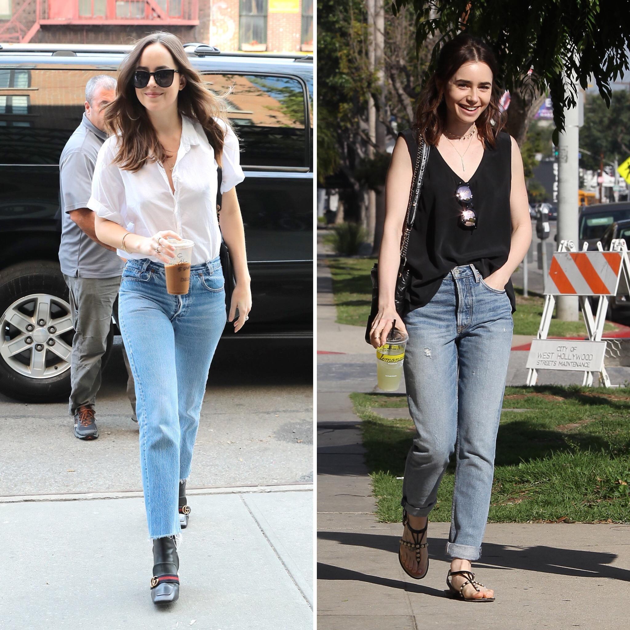 mom-jeans-dakota-johnson-lily-collins