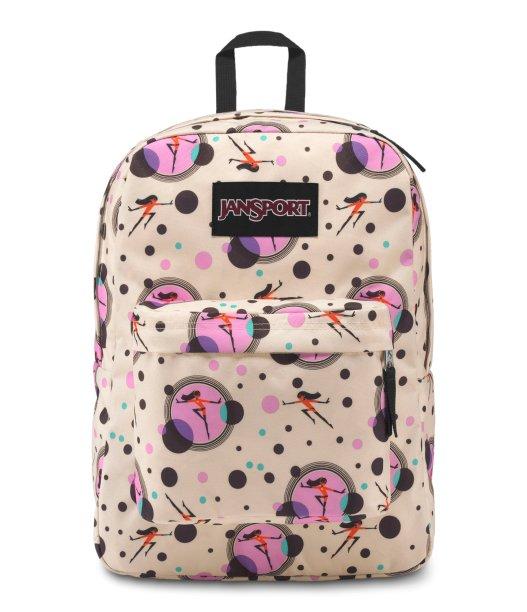 Toda a elasticidade da Sra. Incrível na estampa da mochila JanSport Os Incríveis 2 (R$ 189,90*).