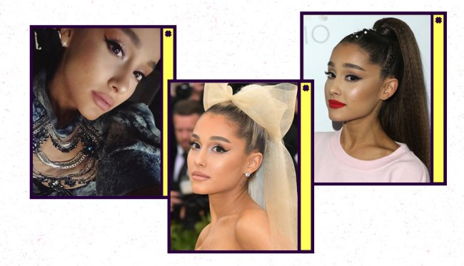 Maquiagens do signo de Câncer: Ariana Grande usa delineado gatinho