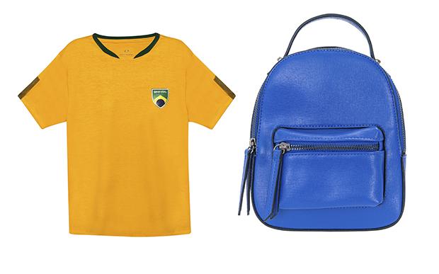 4- Camiseta Renner (R$ 39,90*); 5- Mochila Renner (R$ 129,90*).