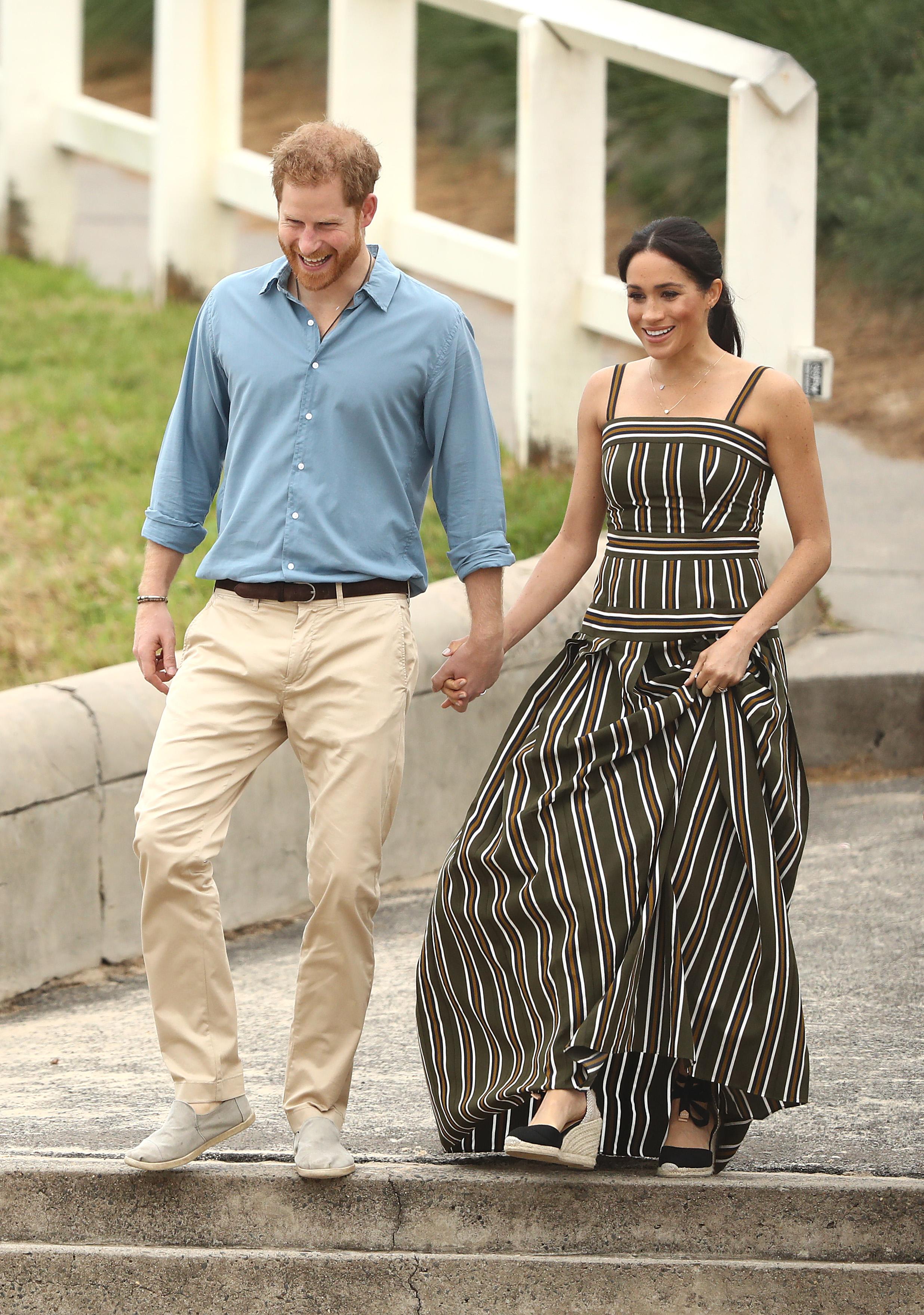 Meghan Markle e príncipe Harry em turnê real pela Austrália.