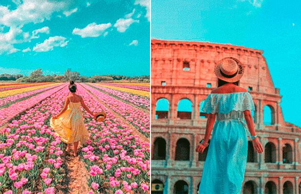 Instagram da Leitora: o rosa e o azul acompanham as viagens de Miss May