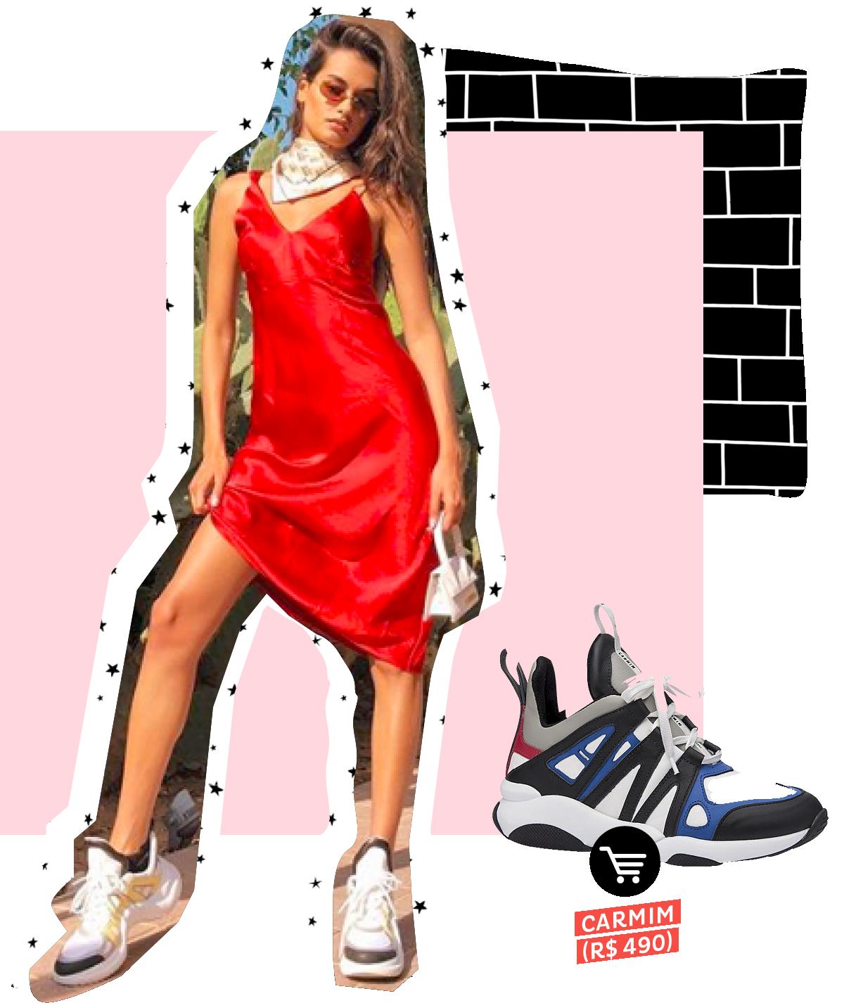Gizele Oliveira usando dad sneakers no street style. Dicas de como usar e onde comprar
