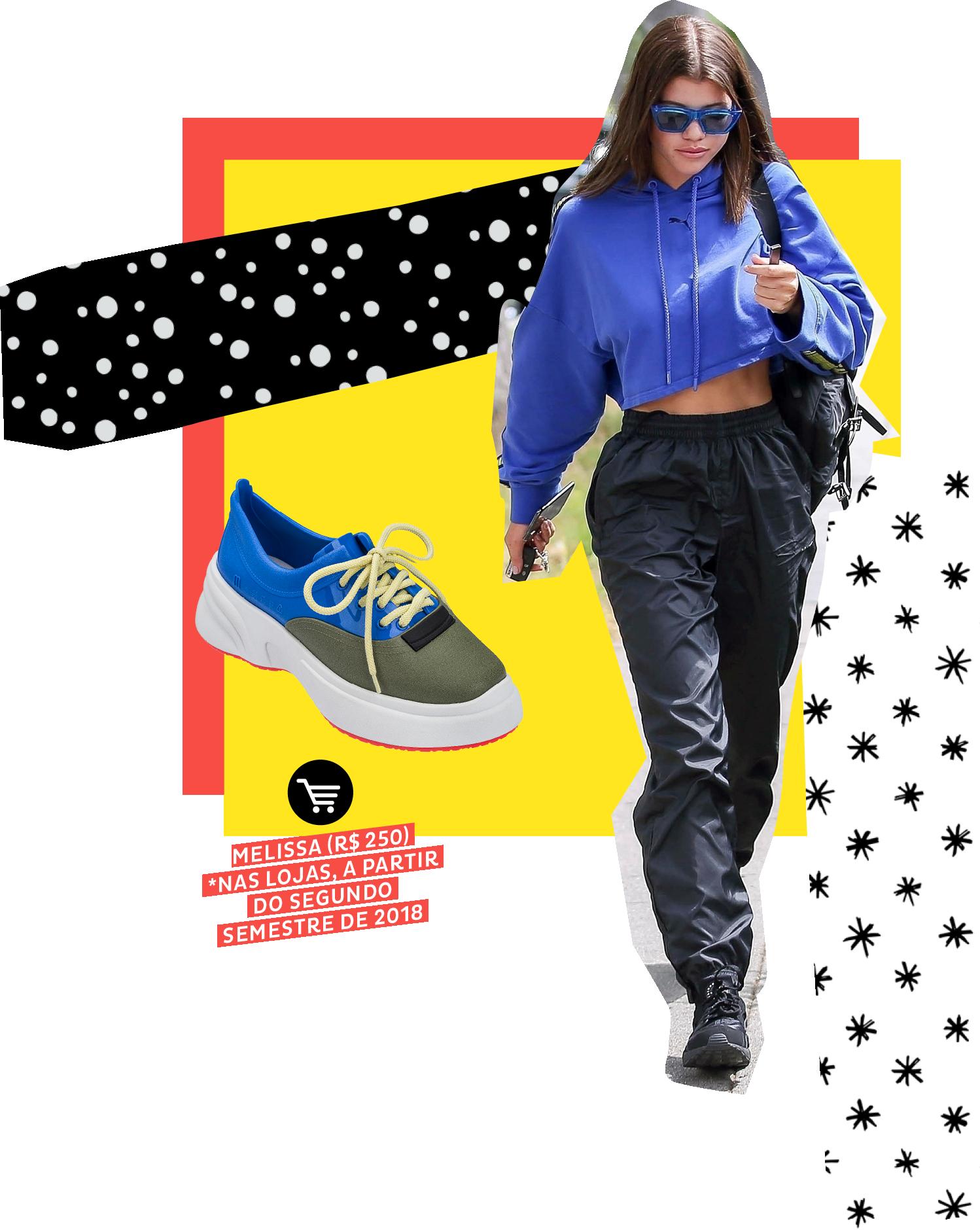 Sofia Richie usando dad sneakers no street style. Dicas de como usar e onde comprar