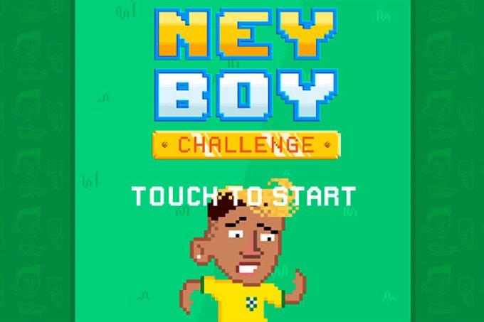 Acabam de lançar o Ney Boy, jogo em que você precisa manter o Neymar em pé