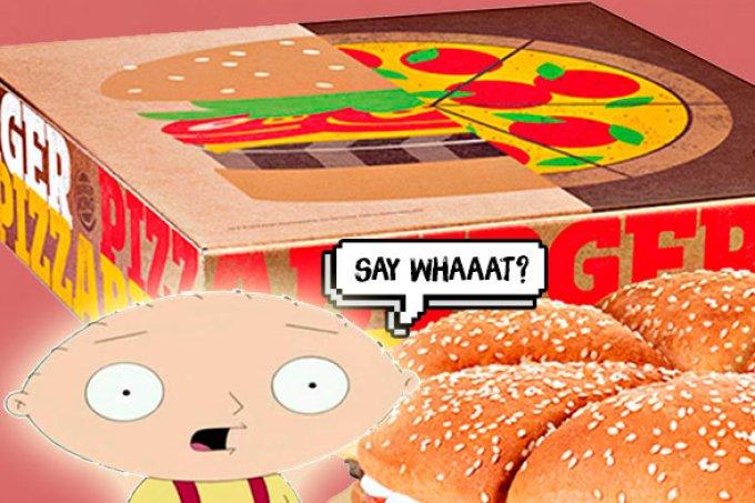 Burguer King lança Pizza Burguer, um sanduíche em formato de pizza!