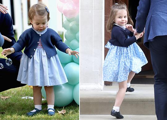 Saiba porque os vestidinhos da princesa Charlotte são sempre parecidos