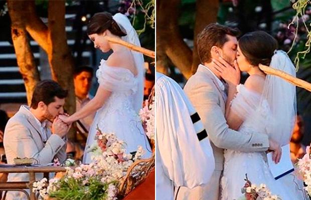 O sim de Klebber Toledo e Camila Queiroz rendeu lindas fotos de casamento