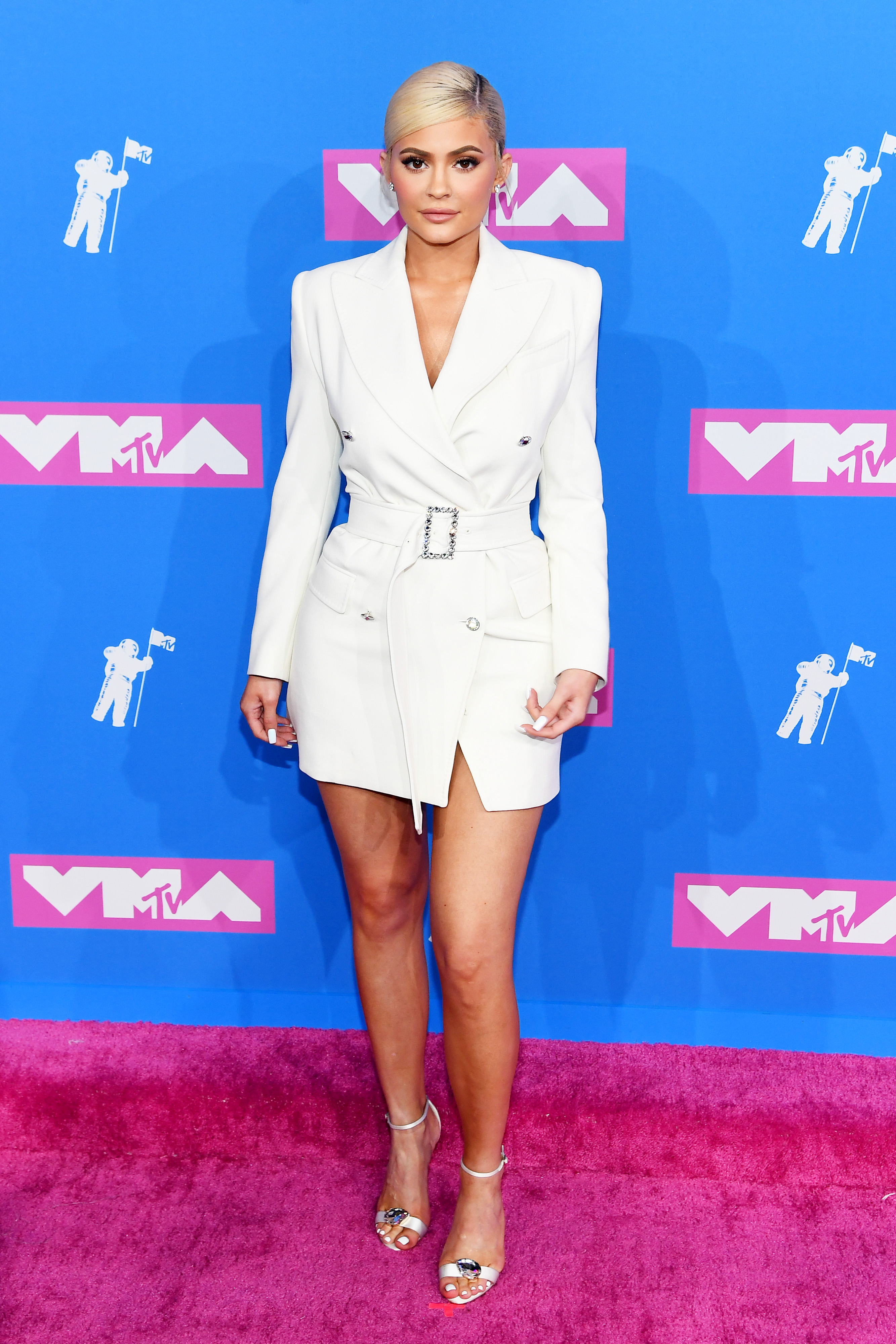 Kylie Jenner no red carpet do VMA 2018.