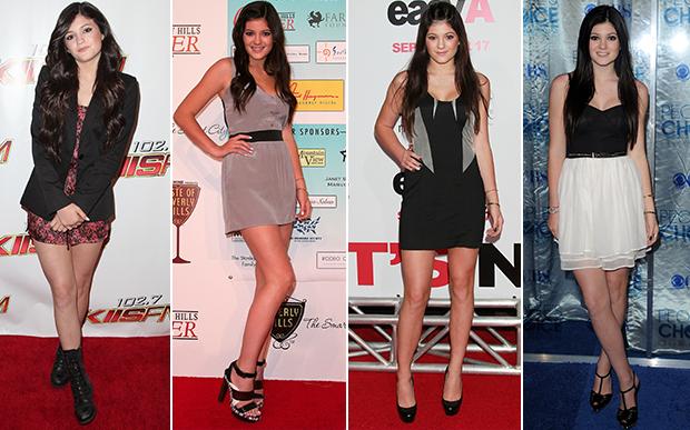 2010- Kylie começou a ser presença constante em red carpets e eventos de música e do cinema aos 13 anos. De coturno ou saltão, já deva para perceber que o comprimento míni era o seu preferido.