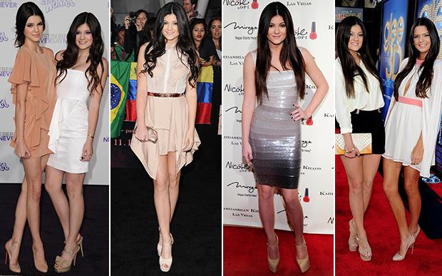 2011- O estilo da Kylie em 2011 traduz bem o que era moda naquele ano: sapatos e sandálias com saltos meia-pata gigantescos e vestidos bandage, bem justinhos, colados ao corpo.