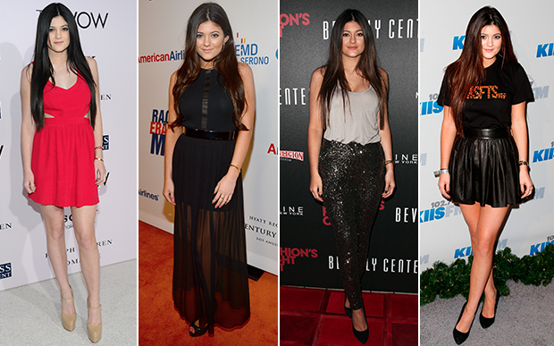 2012- Kylie variou bem nas suas escolhas em 2012. Os vestidos curtinhos e os sapatos meia-pata continuavam em seus looks, mas também começaram a aparecer calças e scarpins no seu visual.