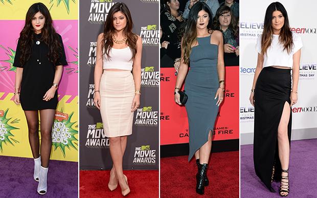 2013- no red carpet: Opa! Já detectamos algumas tendências bem Kardashian aqui: looks lisos, vestidos mídi colados ao corpo, cropped com saia também mídi e ankle boots de salto.