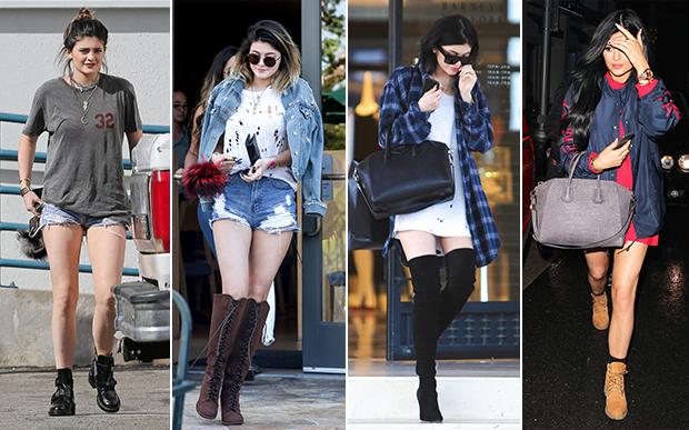 2014- no street style: Muito jeans, camiseta podrinha ou camisetão usado como vestido e... bolsas grifadas! Estes acessórios viraram de vez sua marca de estilo.