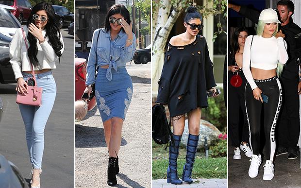 2015- no street style: Kim ou Kylie? As duas irmãs usaram produções bem parecidas neste ano e as peças esportivas começaram a aparecer com bastante força no street style: 2015 foi o ano da legging!
