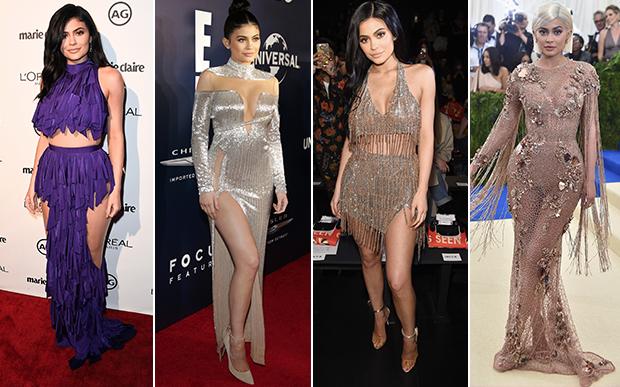 2017- no red carpet: Kylie Jenner grávida? Este foi um dos grandes ~mistérios~ de 2017! Ela sumiu dos grandes eventos, mas ainda assim conseguiu se destacar por seus look baphônicos de red carpet – tá, e também por esta produção roxa que dividiu opiniões!