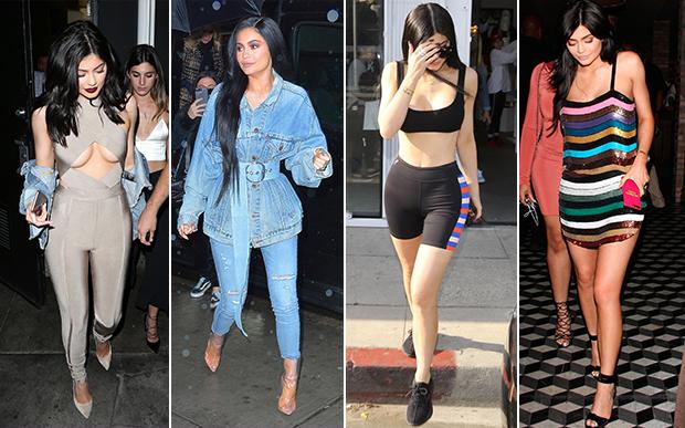 2017- no street style: Oi, sumida! Das poucas vezes em que Kylie foi fotografada pelos paparazzi, ela conseguiu emplacar a tendência do decote underboob e das botas transparentes.