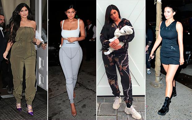 2018- no street-style: Kylie tem investido cada vez mais no conforto em seus looks. Os tênis e moletons estão sempre presentes em suas produções do dia a dia.