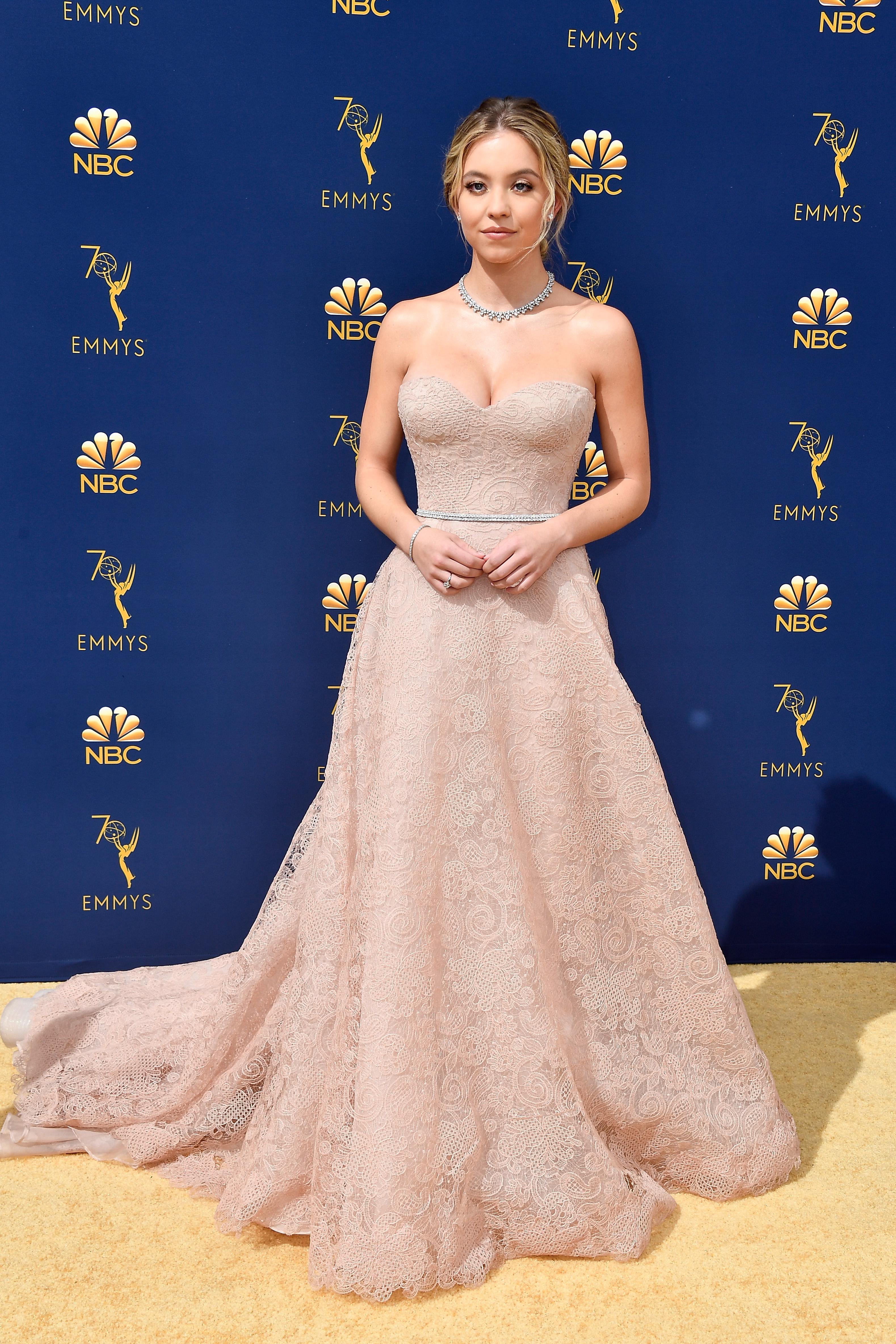 Sydney Sweeney no Emmy Awards 2018.