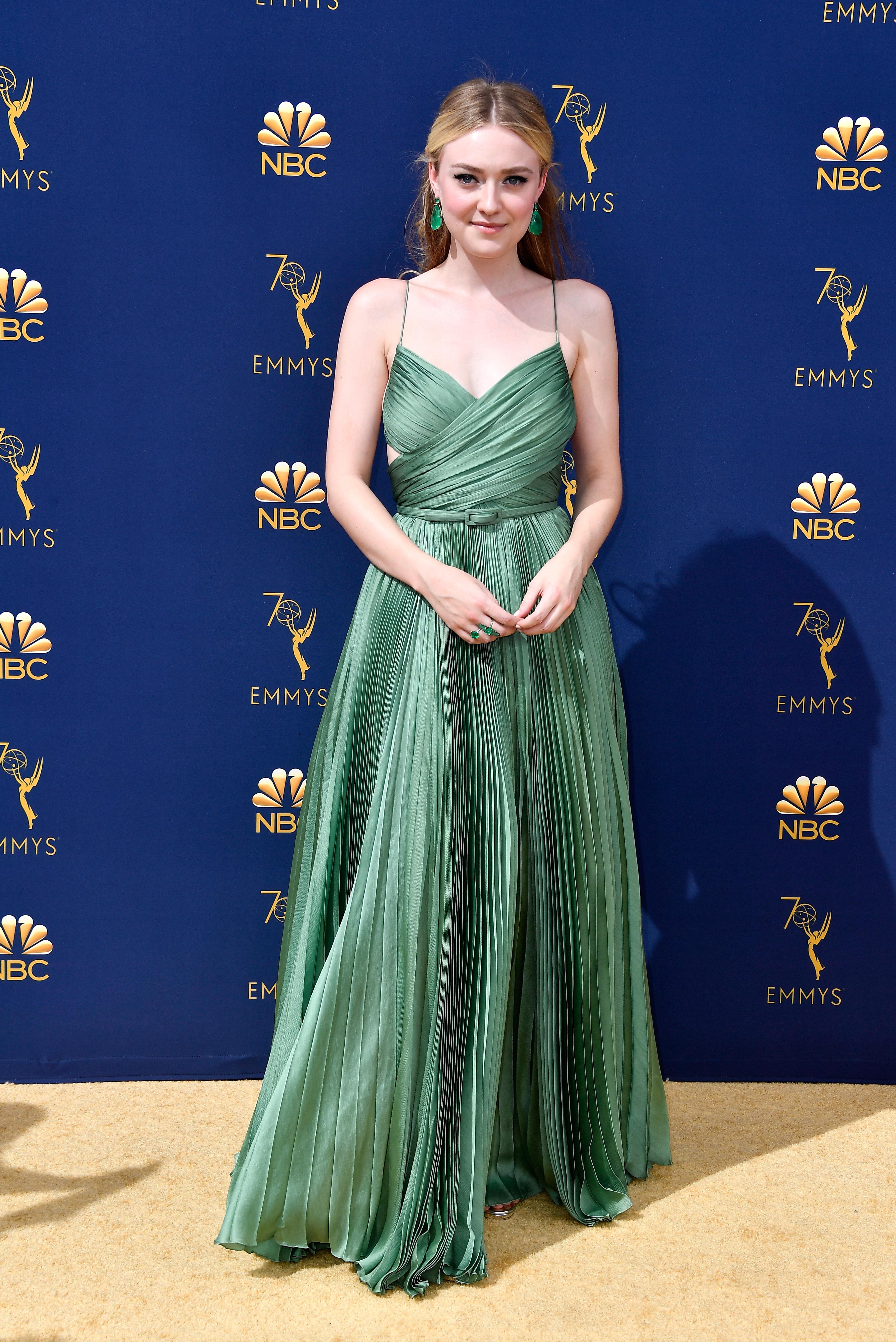 Dakota Fanning no Emmy Awards 2018.