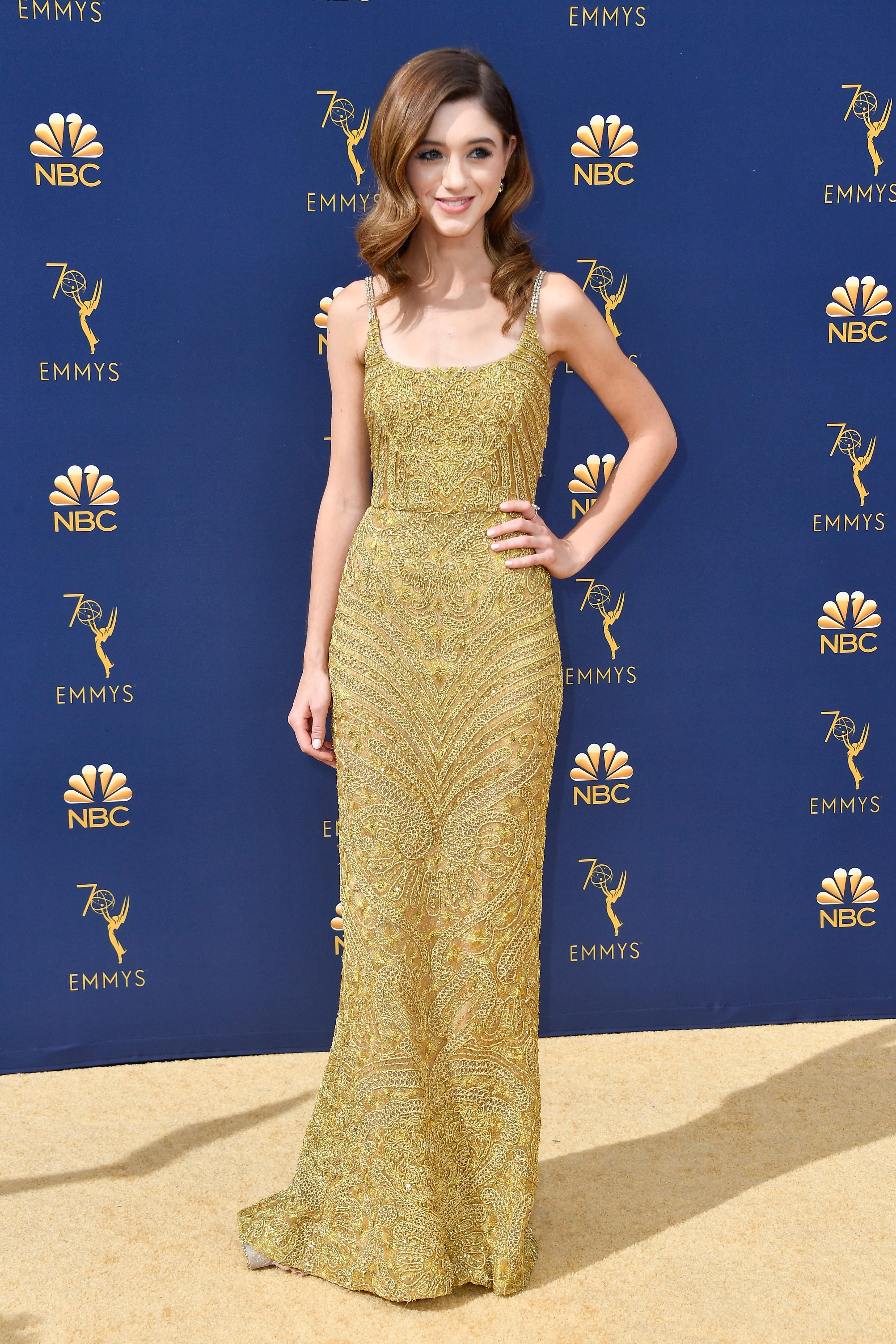 Natalia Dyer no Emmy Awards 2018.