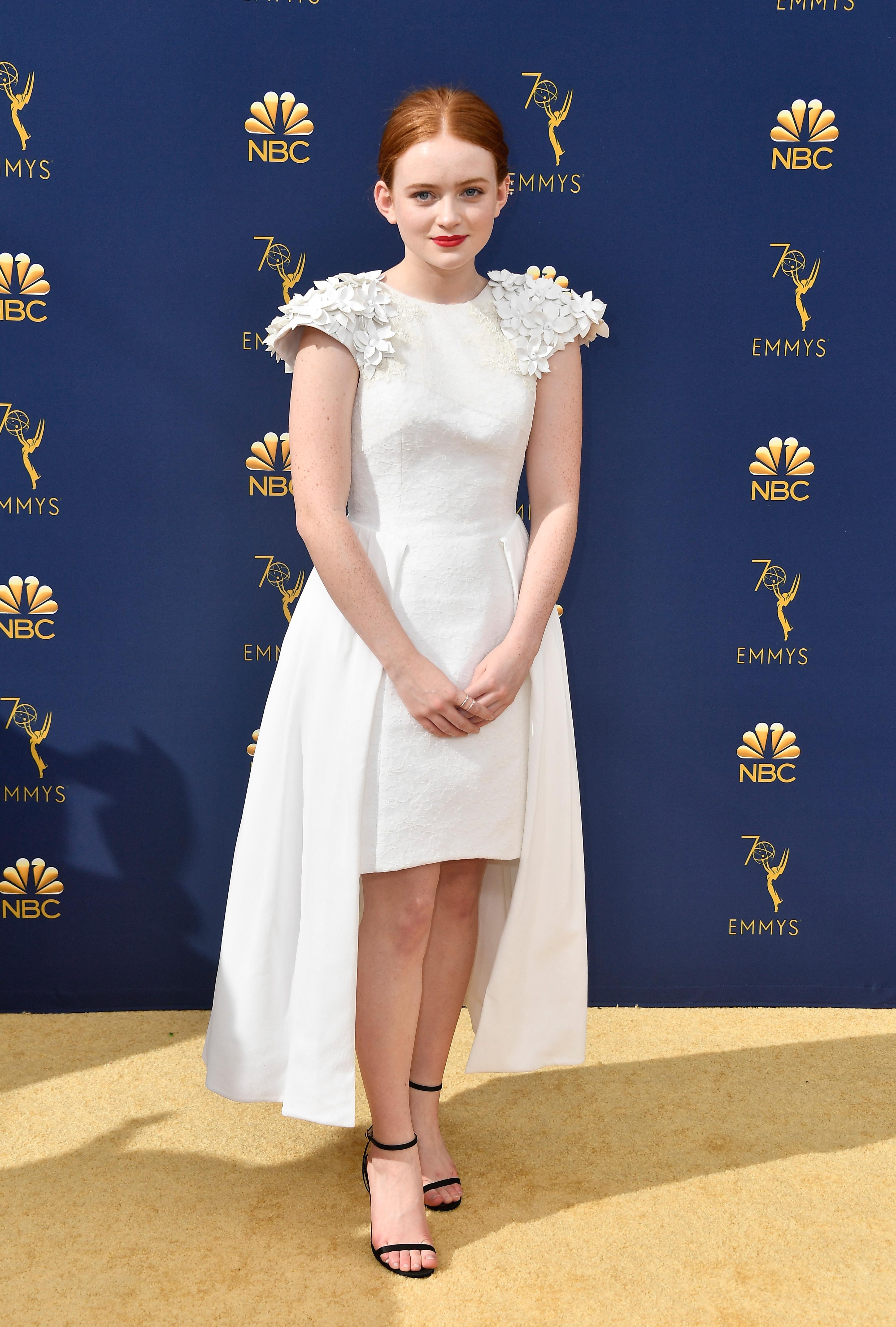 Sadie Sink no Emmy Awards 2018.