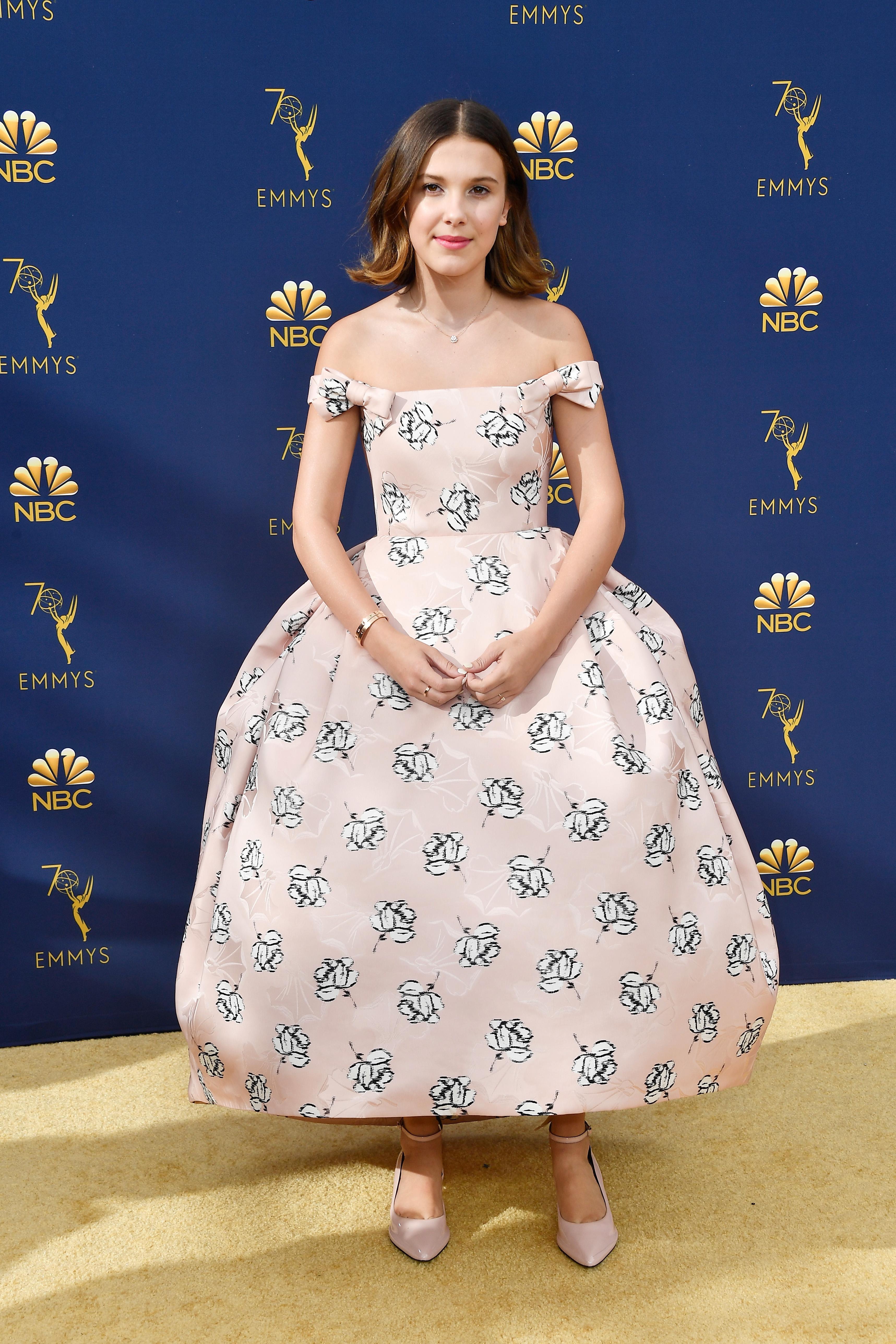 Millie Bobby Brown no Emmy Awards 2018.