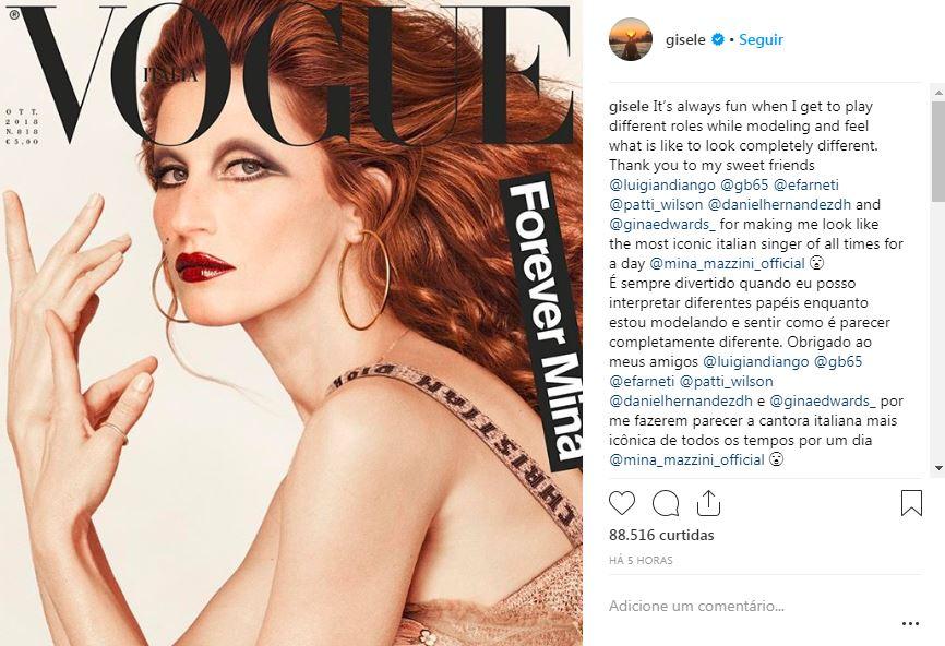 Gisele Bundchen apareceu quase irreconhecivel em capa de revista
