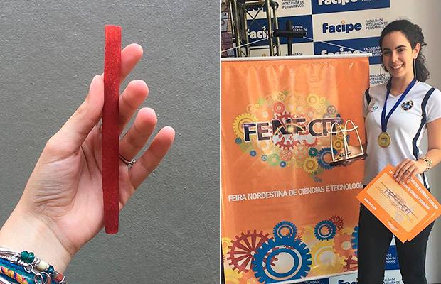 Brasileira de 16 anos cria canudo biodegradável com material baratinho