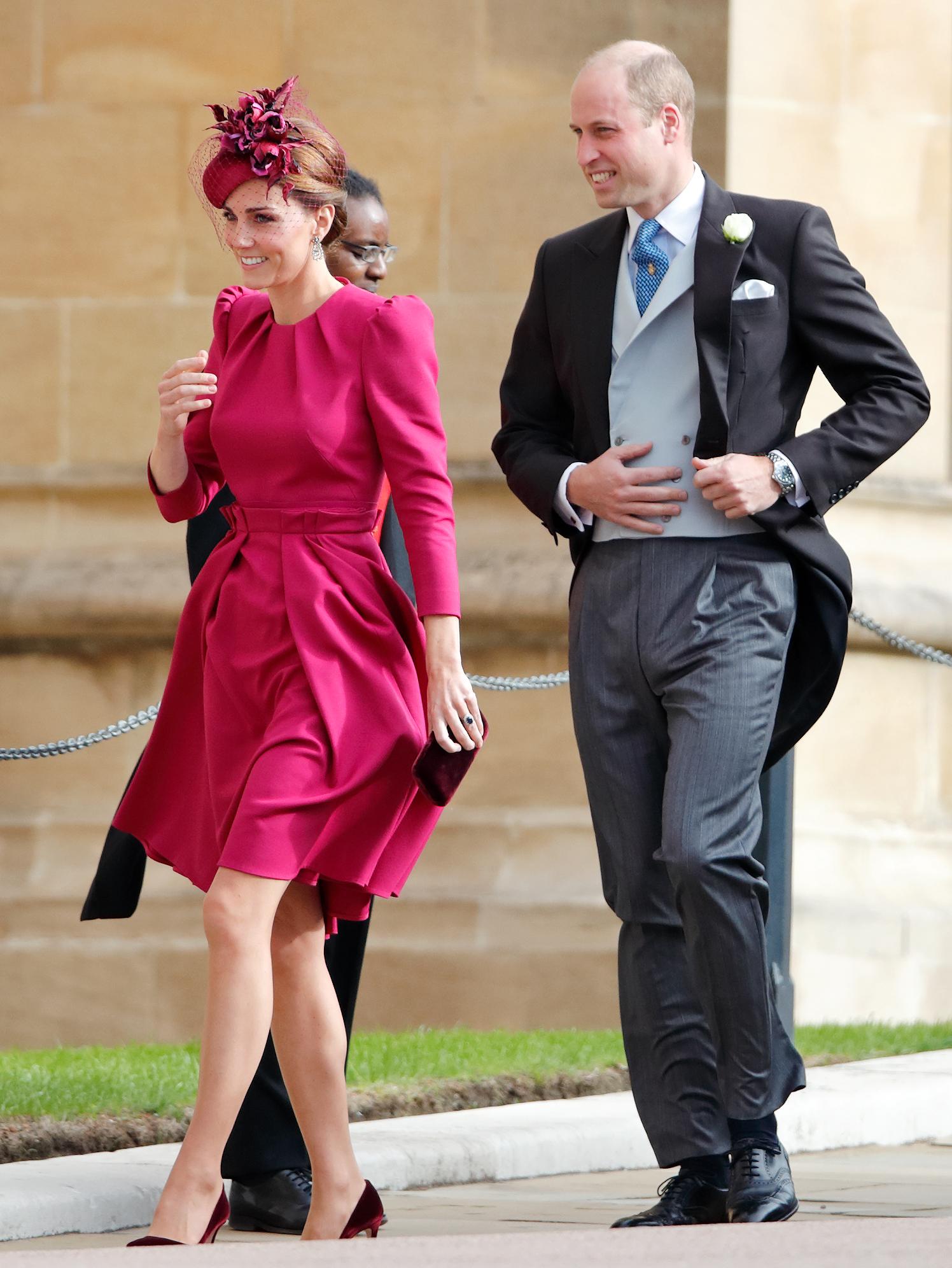 Kate Middleton no casamento da princesa Eugenie.