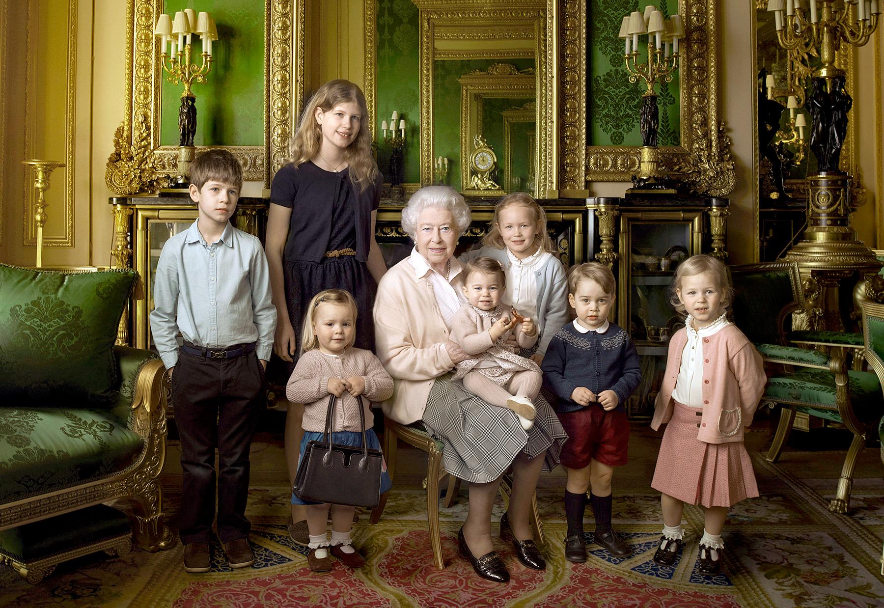 rainha-elizabeth-e-seus-netos