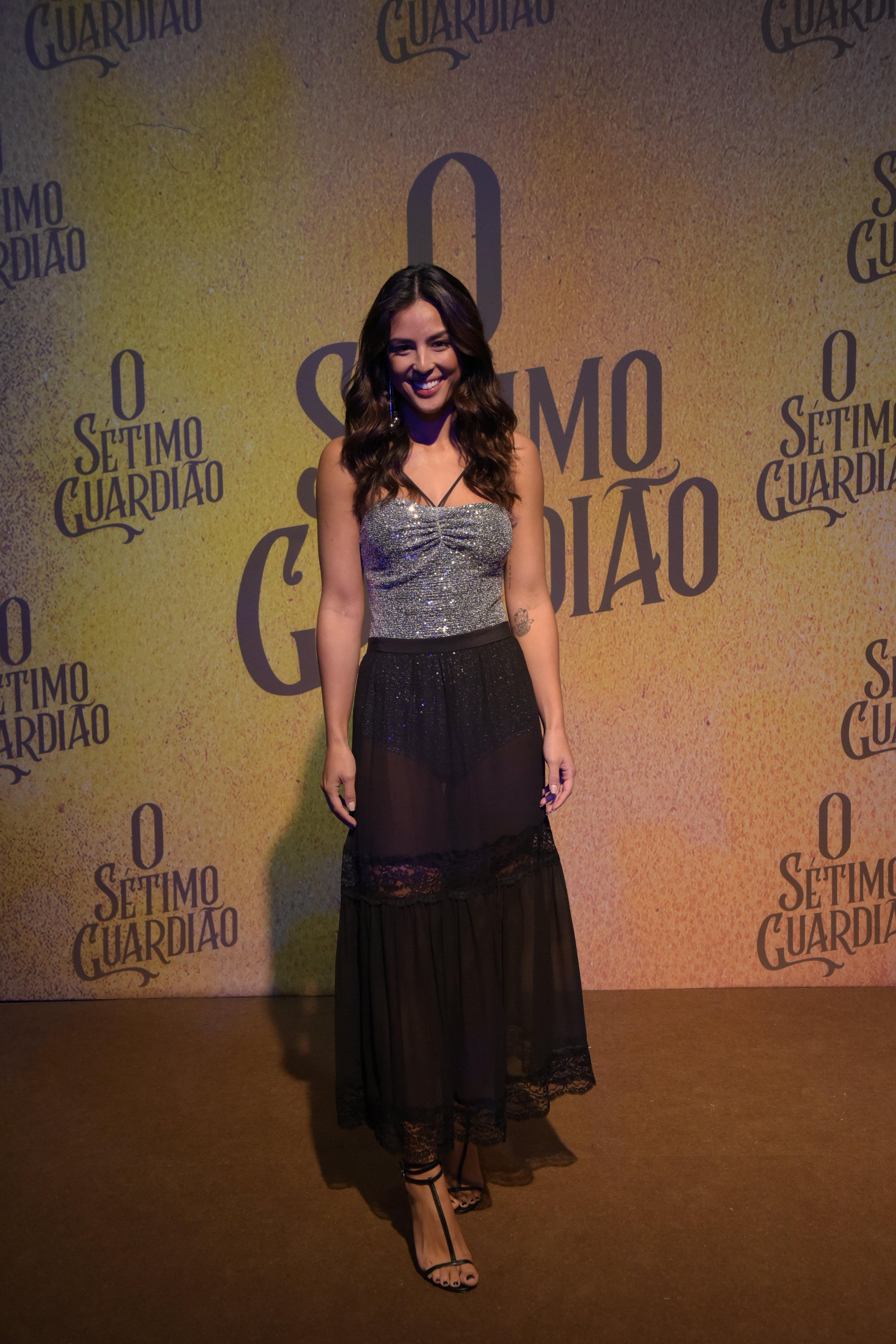 Yanna Lavigne na festa de lançamento da novela O Sétimo Guardião.