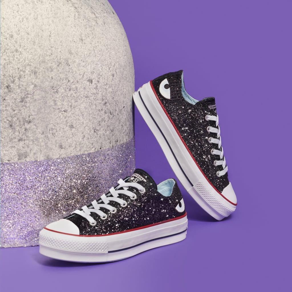 Tênis de glitter da coleção Converse X Chiara.