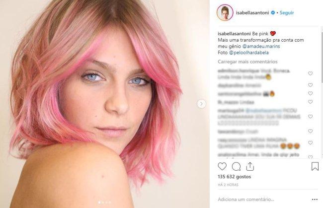 isabella-santoni-cabelo-rosa-transformacao
