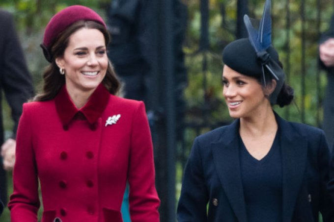 Kate Middleton e Meghan Markle Natal real