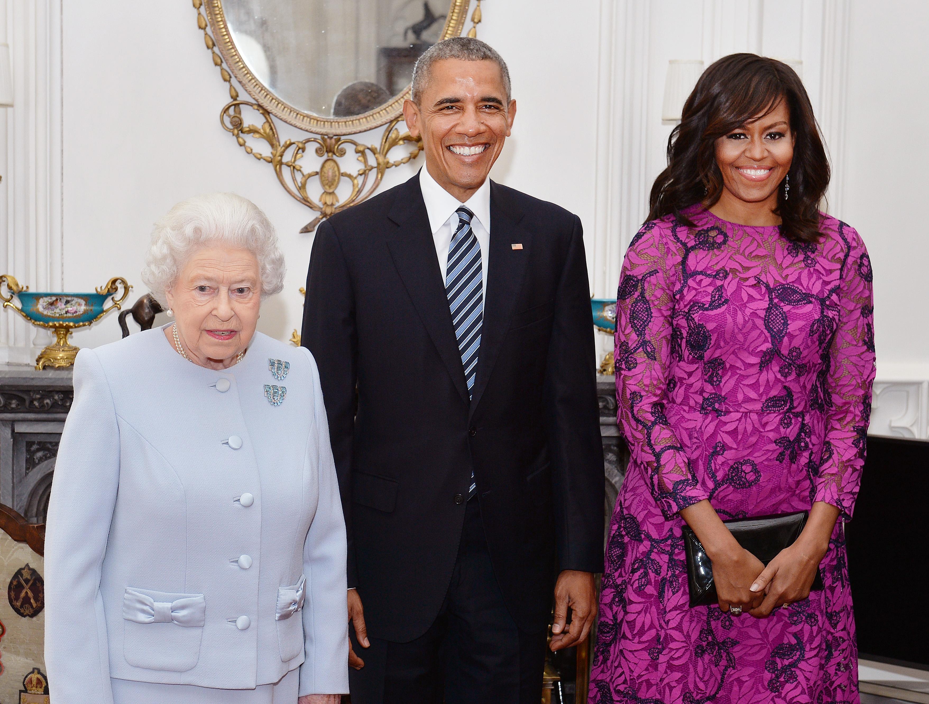 michelle-barack-obama-rainha-elizabeth-ii