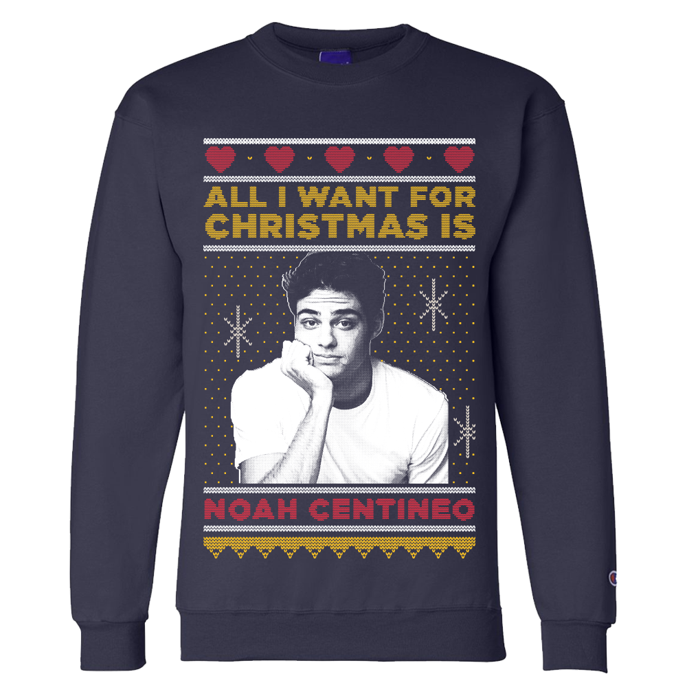 Ugly sweater do Noah Centineo - quero!