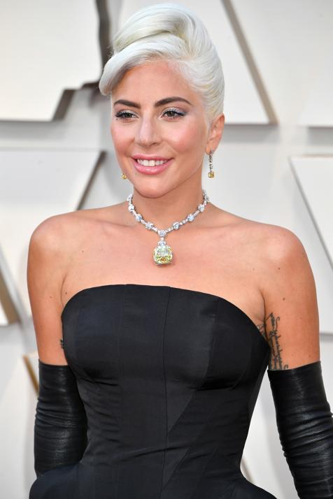 Lady Gaga usou o icônico Diamante Tiffany.