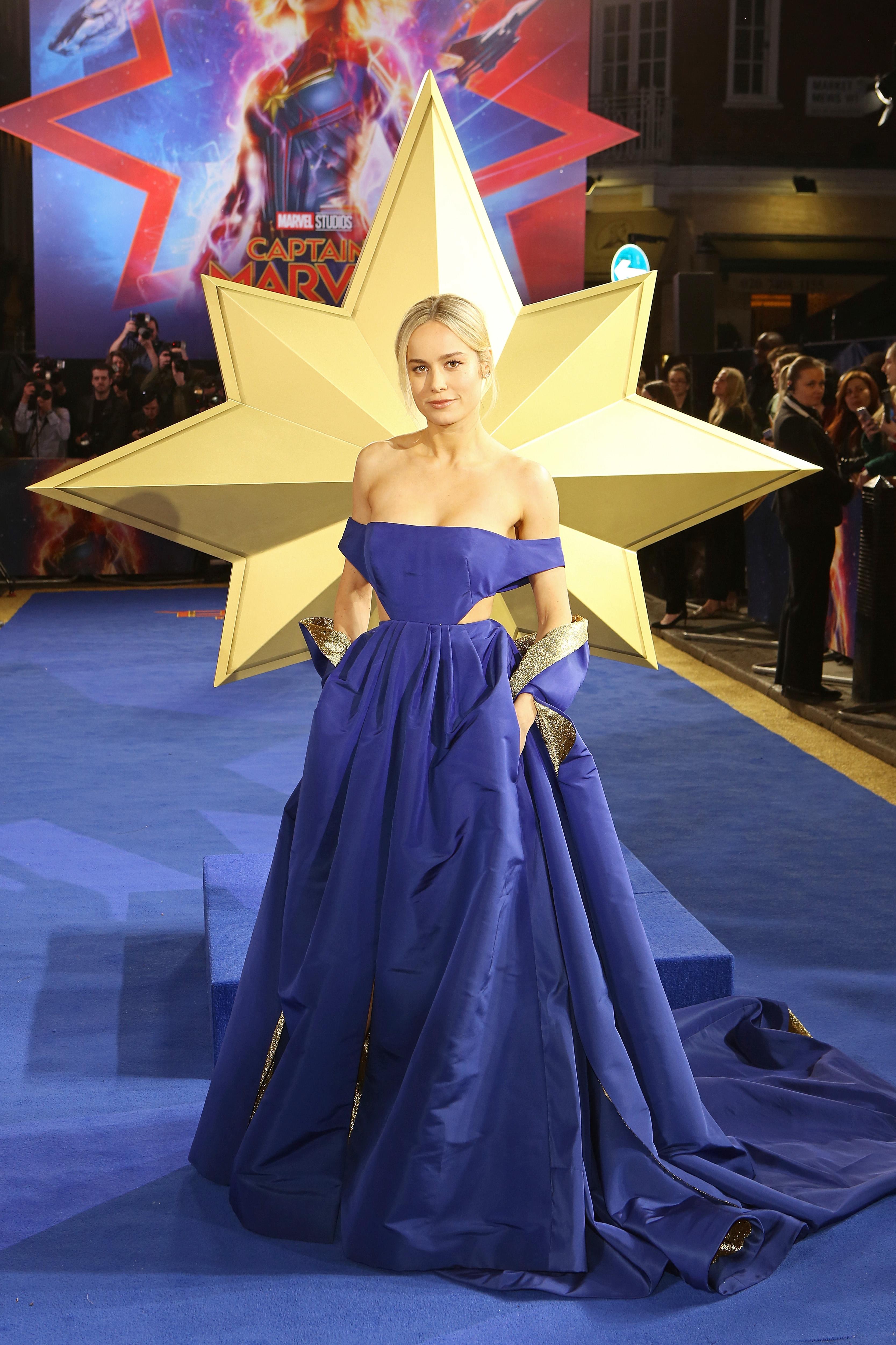 Brie Larson na premiere de Capitã Marvel