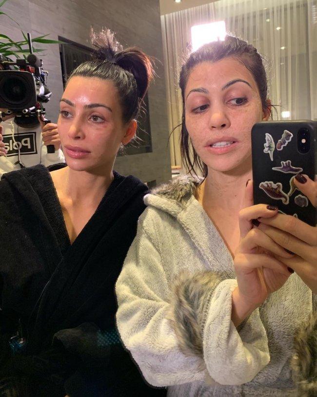 kim-kardashian-kourtney-hanacure-mascara-facial
