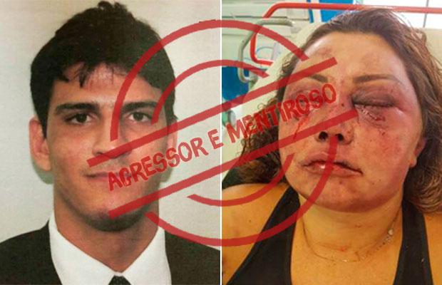 Agressor que espancou mulher e culpou 'surto psicótico' é desmentido por exames