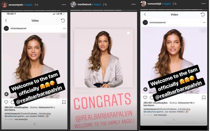 Stories de modelos da Victoria's Secret