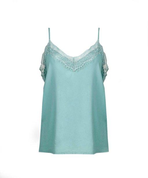 Blusa verde com renda (R$ 79,99*).