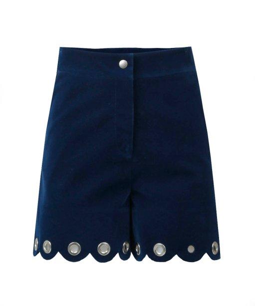 Short azul de veludo (R$ 149,99*).
