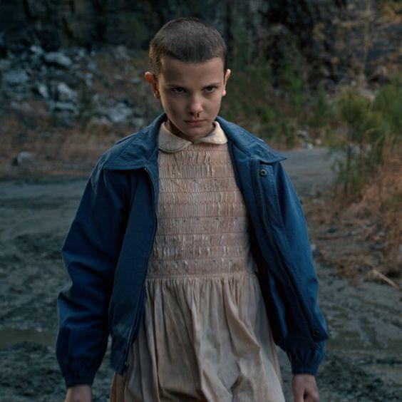 Eleven na primeira temporada de Stranger Things