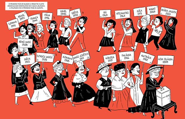 Mulheres na Luta: os 150 anos da história feminista descritos e ilustrados